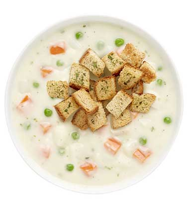 CAMPBELL'S FRESH PREPARED SOUP SPOT®: CREAMY CHICKEN POT PIE SOUP WITH SOUP CUSTOMIZER TM GR. K-8
