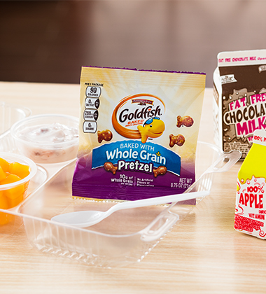 GOLDFISH® BAKED WITH WHOLE GRAIN PRETZEL BREAKFAST COMBO