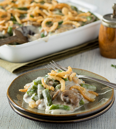 GREEN BEAN CASSEROLE MADE WITH CAMPBELL'S® CREAM OF MUSHROOM SOUP