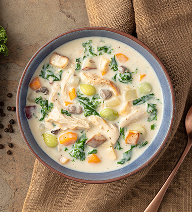 HEARTY VEGETABLE & TURKEY SOUP MADE WITH CAMPBELL'S® HEALTHY REQUEST® CREAM OF MUSHROOM SOUP