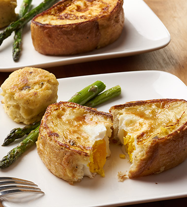 SAVORY FRENCH TOAST TOAD-IN-A-HOLE