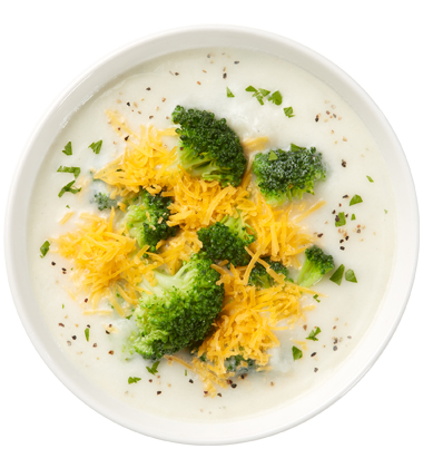 CAMPBELL'S FRESH PREPARED SOUP SPOT®: BROCCOLI & CHEESE SOUP WITH SOUP CUSTOMIZER TM