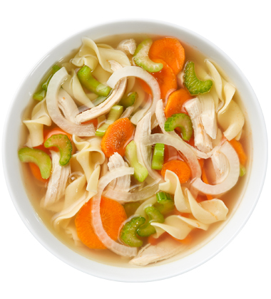 CAMPBELL'S FRESH PREPARED SOUP SPOT®: CHICKEN NOODLE SOUP WITH SOUP CUSTOMIZER TM