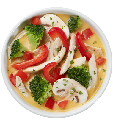 CAMPBELL'S FRESH PREPARED SOUP SPOT®: THAI CHICKEN VEGETABLE WITH SOUP CUSTOMIZER TM
