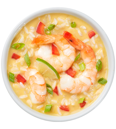 CAMPBELL'S FRESH PREPARED SOUP SPOT®: THAI GINGER SHRIMP SOUP WITH SOUP CUSTOMIZER TM