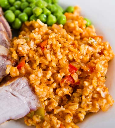 SPANISH RICE WITH PORK CHOPS