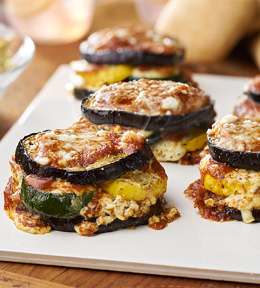 SUMMER VEGETABLE STACKS MADE WITH CAMPBELL'S® HEALTHY REQUEST® CONDENSED TOMATO SOUP