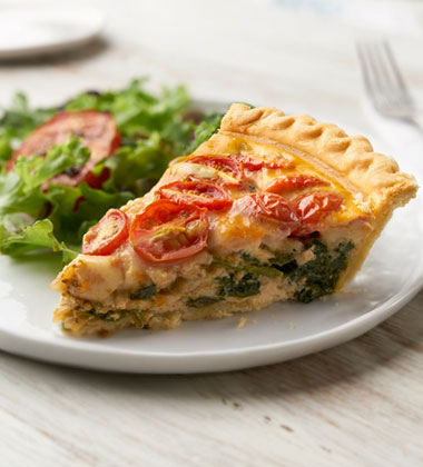 TUSCAN QUICHE MADE WITH V8® VEGETABLE JUICE