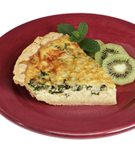 COUNTRY QUICHE WITH SPINACH AND SWISS CHEESE