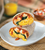 BREAKFAST BURRITO MADE WITH V8® SPICY HOT 100% VEGETABLE JUICE