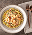 SHRIMP LINGUINI MADE WITH CAMPBELL'S® RESERVE ROASTED POBLANO & WHITE CHEDDAR SOUP WITH TOMATILLOS