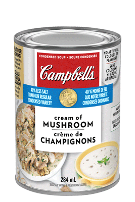CAMPBELL'S® Condensed 40% Less Salt Cream of Mushroom Soup