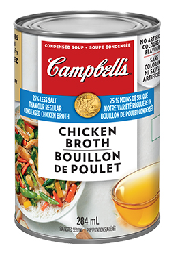 CAMPBELL'S® Condensed 25% Less Sodium Chicken Broth