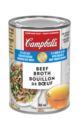 CAMPBELL'S® Condensed 25% Less Salt Beef Broth