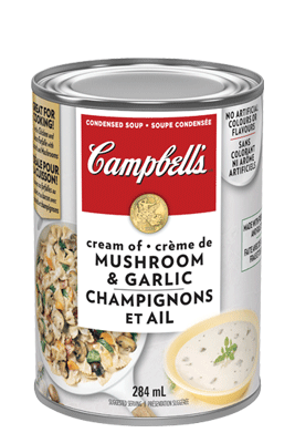 CAMPBELL'S® Condensed Cream of Mushroom and Garlic Soup