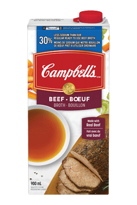 CAMPBELL'S® 30% Less Sodium Ready to Use Beef Broth