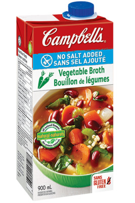 CAMPBELL'S® No Salt Added Ready to Use Vegetable Broth
