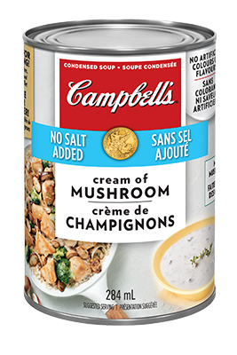 CAMPBELL'S® Condensed No Salt Added Cream of Mushroom Soup