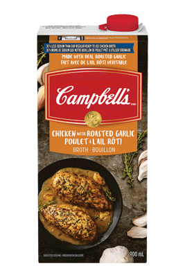 Campbell's® 30% Less Sodium Ready To Use Roasted Garlic Chicken Broth