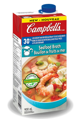 Campbell's® 30% Less Sodium Ready To Use Seafood Broth
