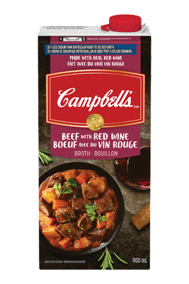 Campbell's® 30% Less Sodium Beef Broth With Red Wine