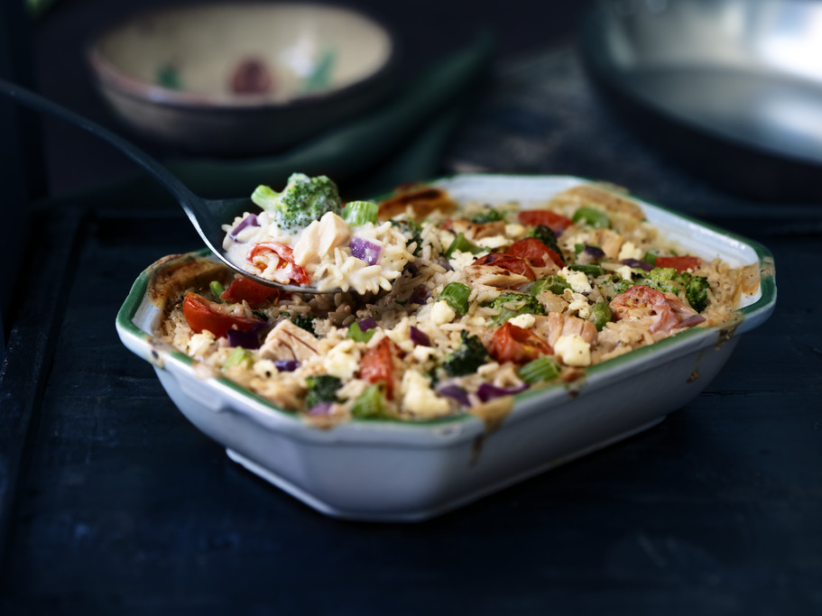 Greek Tuna Broccoli Bake