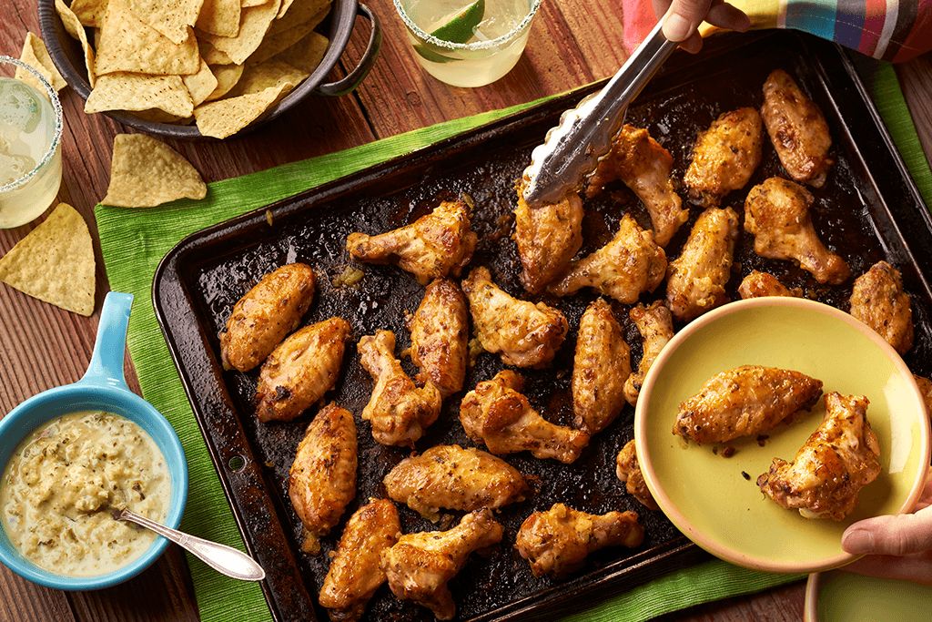 Salsa Verde Chicken Wings