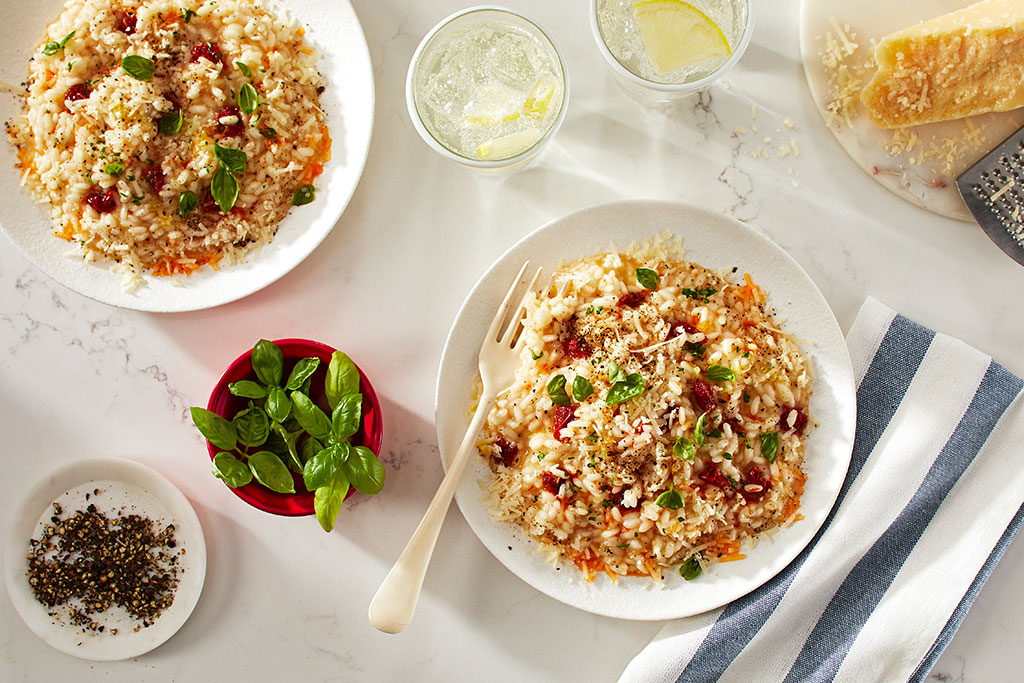 Sundried Tomato and Basil Risotto