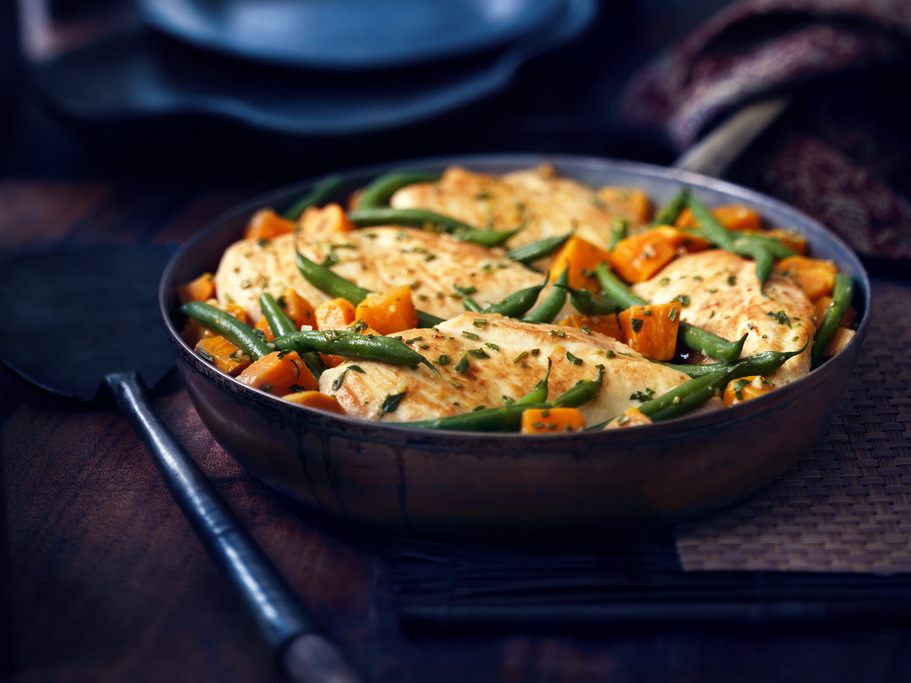 Golden Chicken Autumn Vegetable