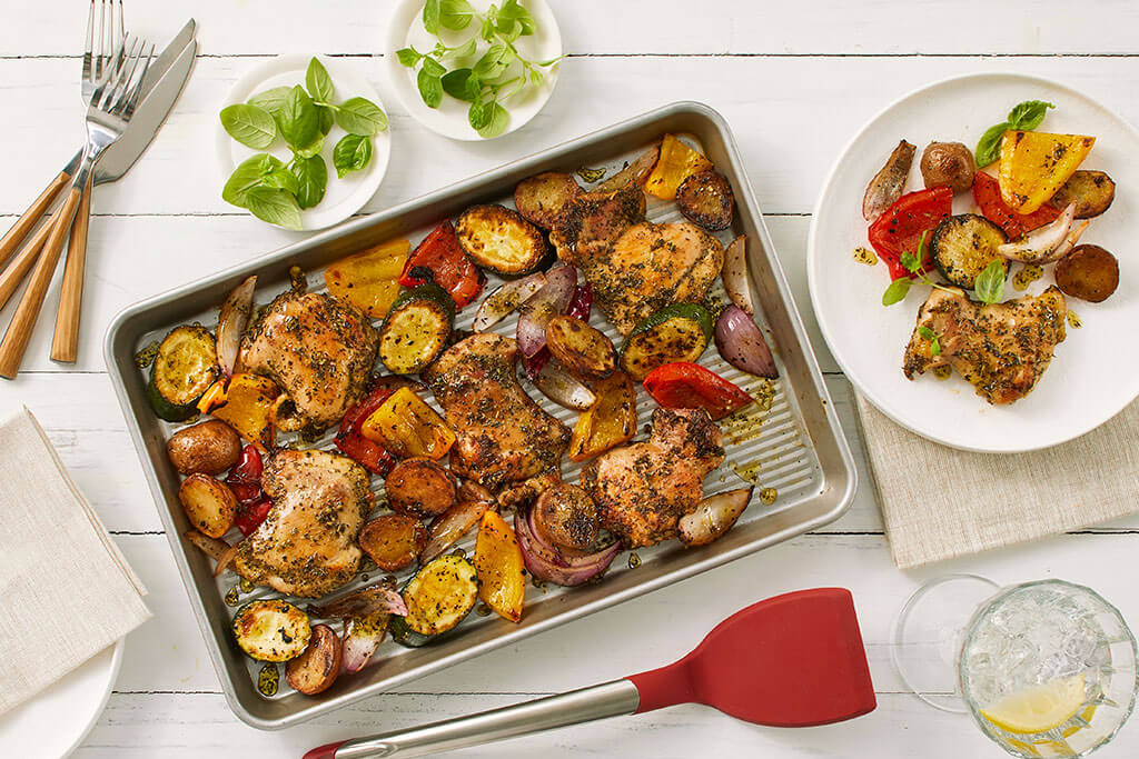 Sheet Pan Grilled Chicken