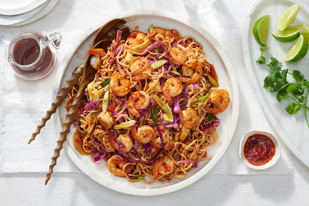 Indonesian Noodles with Shrimp