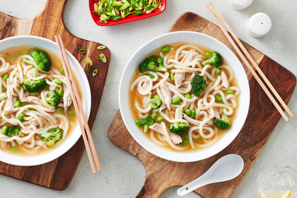 'Almost' Instant Chicken Udon Soup