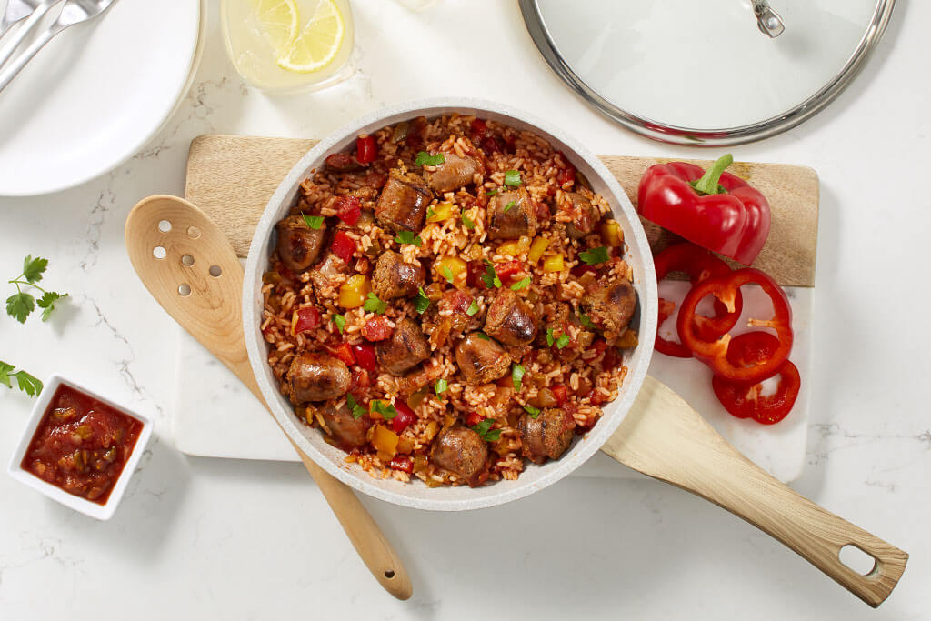 One-Pan Chorizo and Rice Skillet