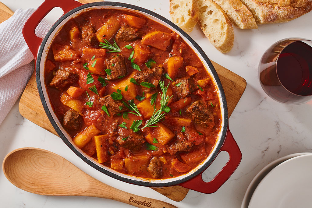 Easy Beef Stew with Red Wine