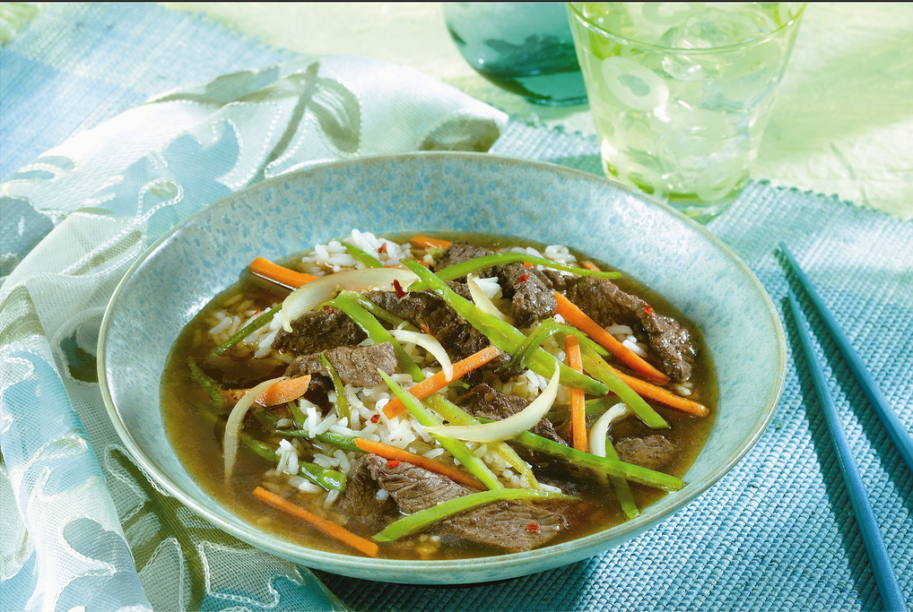 Spicy Asian Beef & Snow Pea Soup