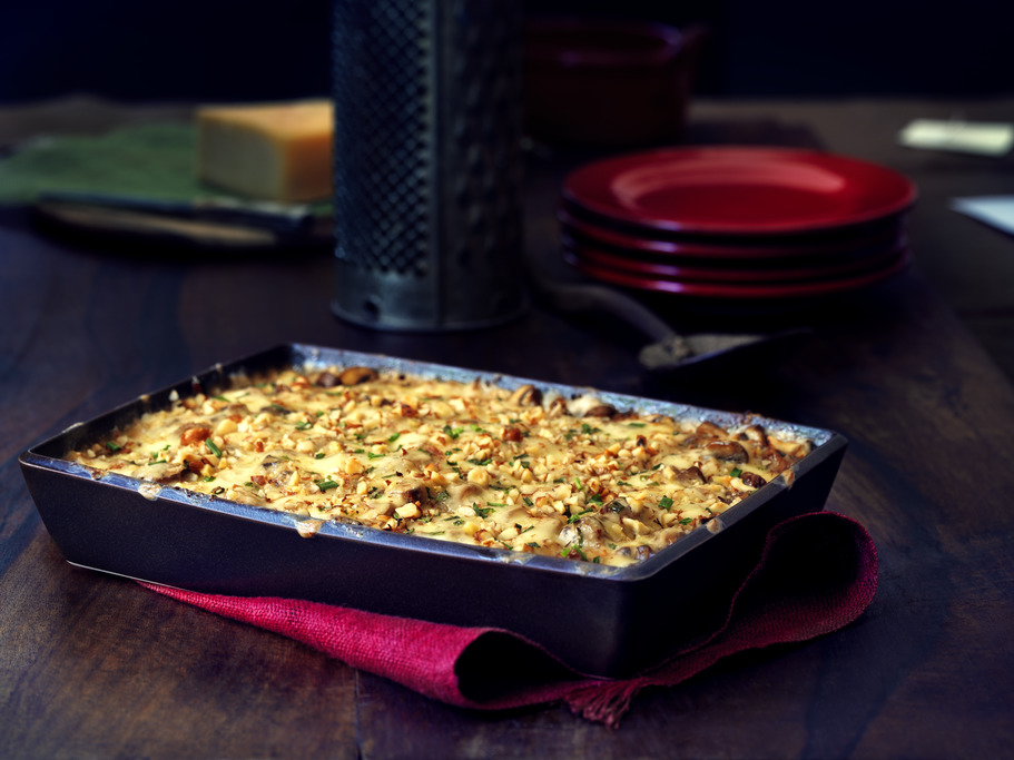 Potato and Mushroom Bake with Migneron De Charlevoix Cheese