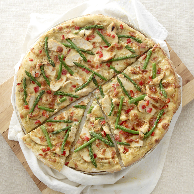 Chicken and Asparagus Pizza