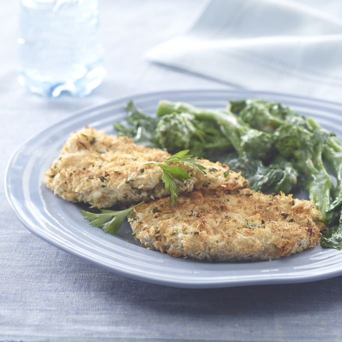 Pork Schnitzel with Creamed Rapini