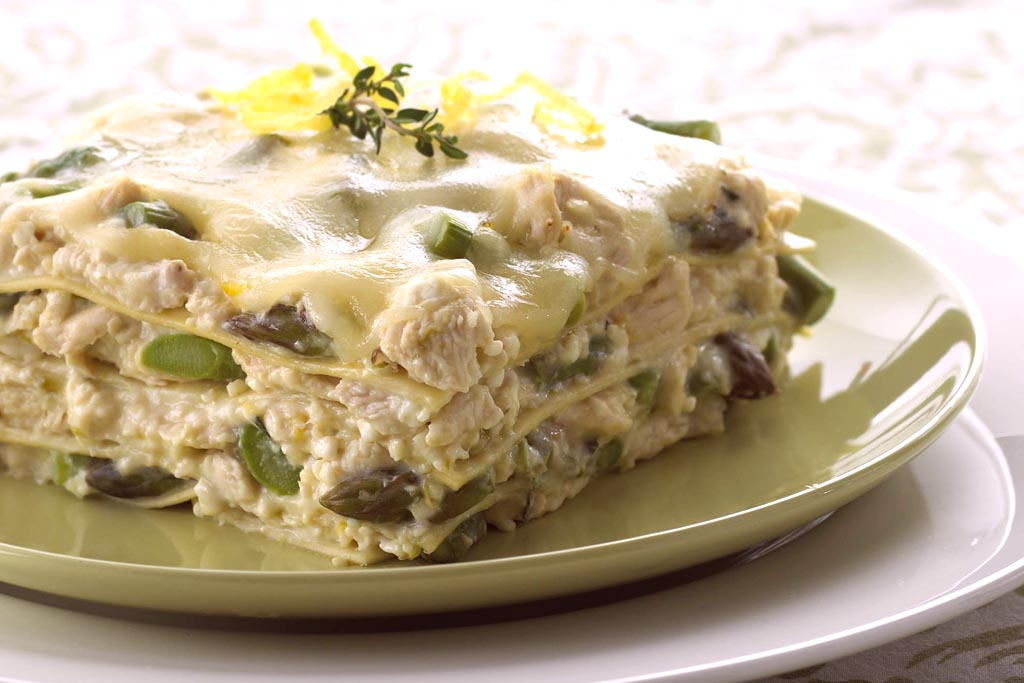 Asparagus and Chicken Lasagna