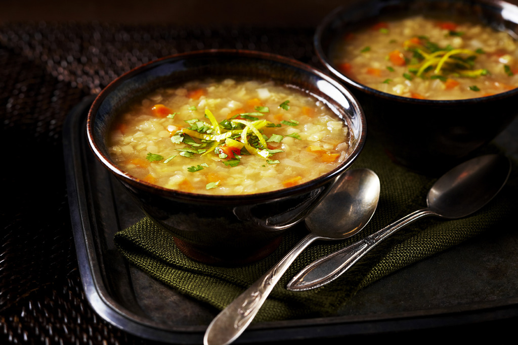 Ginger Lemon Lentil Soup