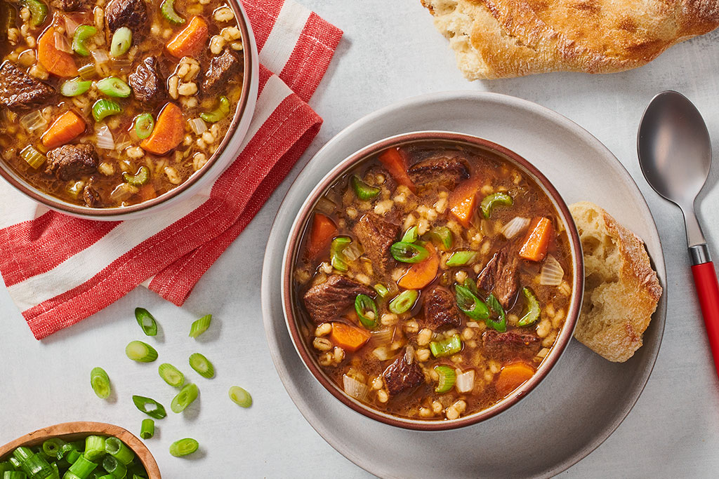 Low Sodium Hearty Beef & Barley Soup