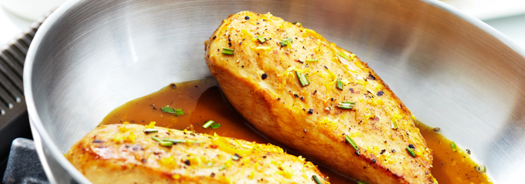 Chicken with Rosemary & Lemon Zest Reduction