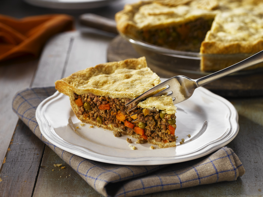 Sweet Potato Tourtière