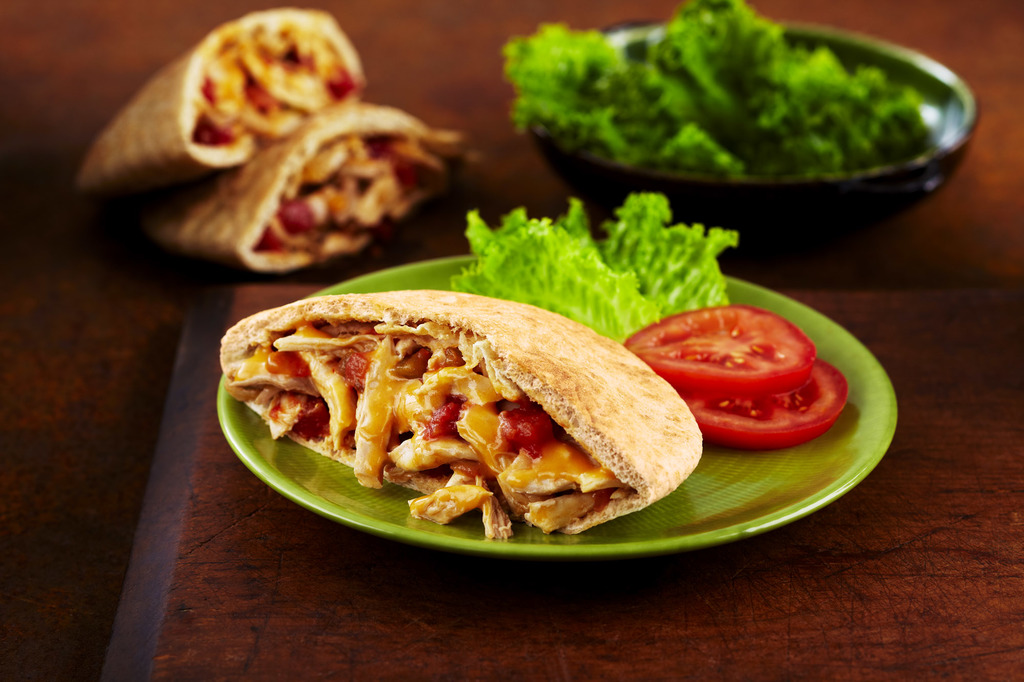 Pulled Chicken on a Pita