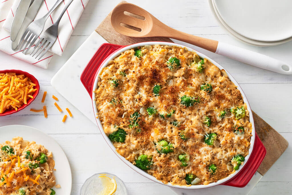 Cheesy Broccoli and Rice Casserole
