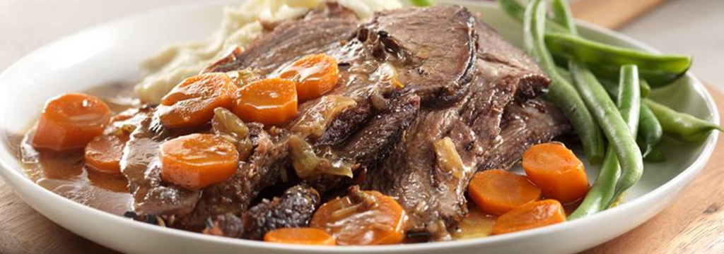 Slow Cooker Beef Pot Roast with Braised Vegetables