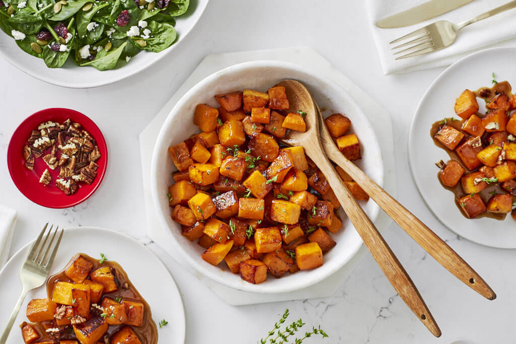 Glazed Butternut Squash with Thyme