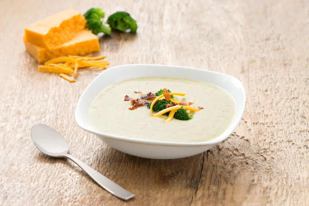 Broccoli and Cheddar Soup with Parmesan Cheese