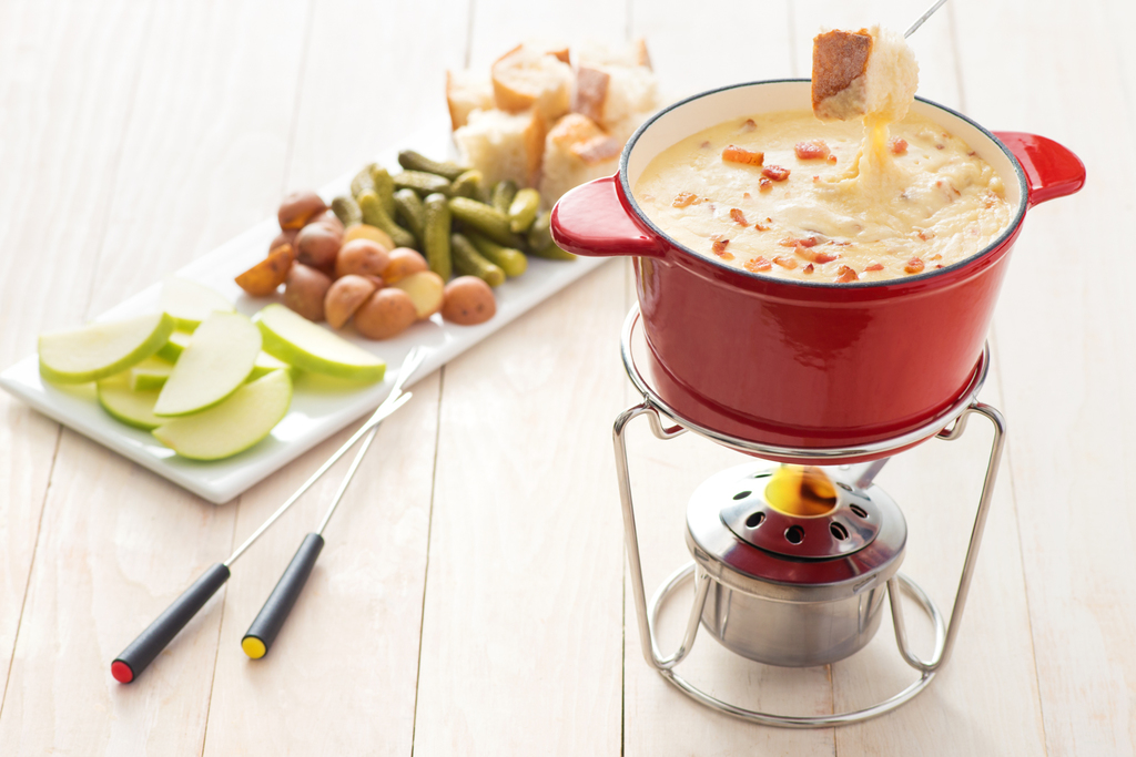 Cheese and Double Smoked Bacon Fondue