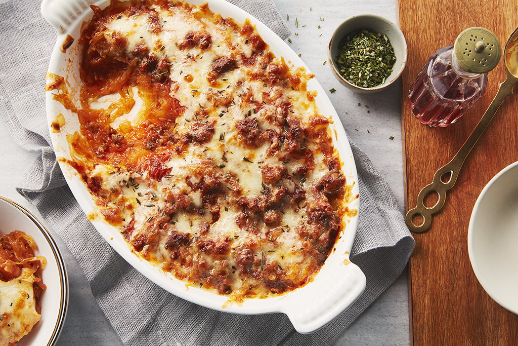 Spaghetti Squash and Sausage Bake